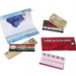 Custom rolling papers arrangement