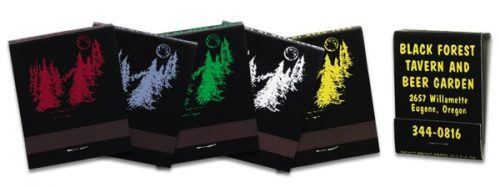 Assorted colored ink on black-colored boards