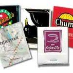 Samples of 20-strike, custom matchbooks.