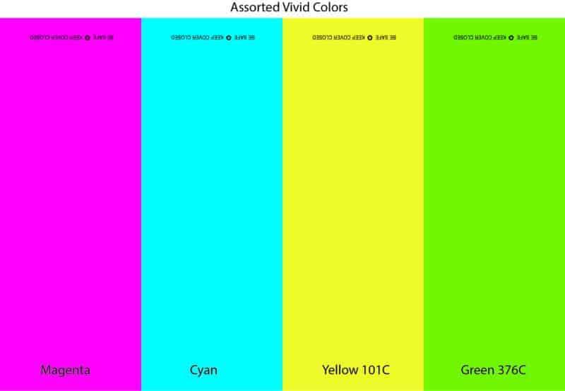 Assorted Vivid Colors