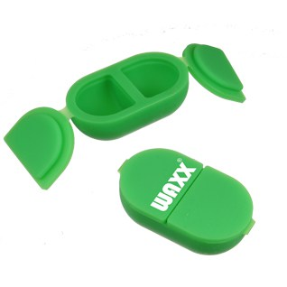 These are double silicone butterfly containers with latch lids that open outwards