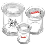 Three sizes of glass jars to be filled with your favorite product. HiRes image
