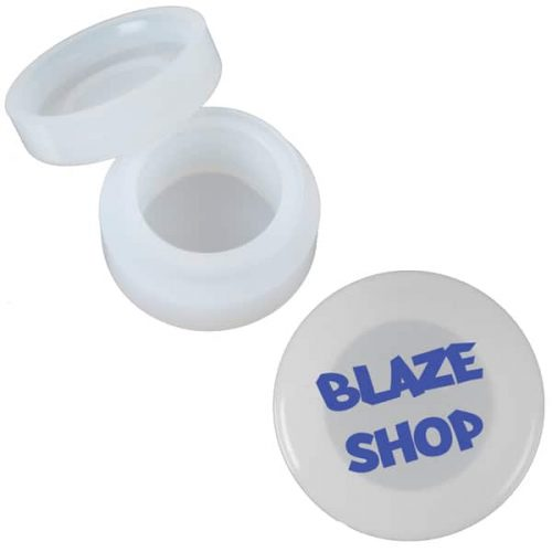 These are small, opaque silicone concentrate containers. HiRes image