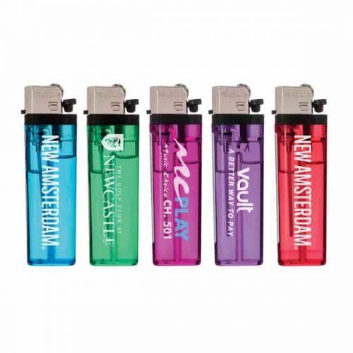 Transparent Standard Flint Cigarette Lighters