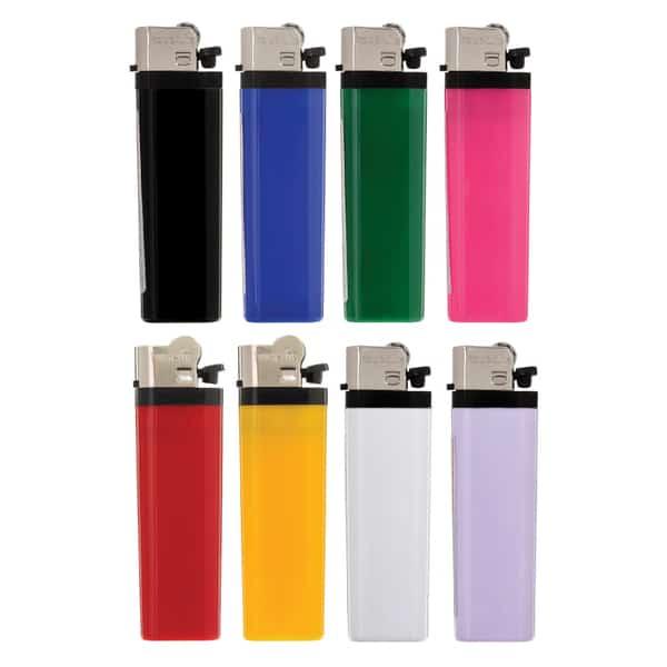 Backs of Solid Flint Cigarette Lighters