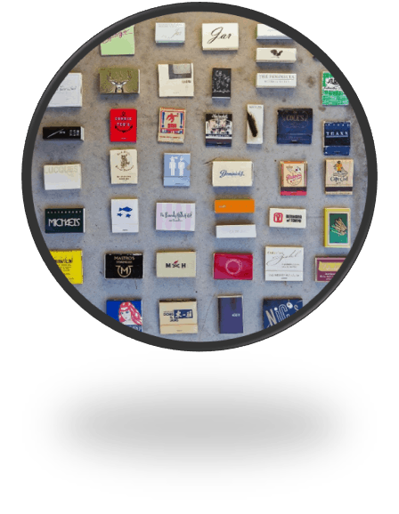 A Collection of Matchbooks and Matchboxes