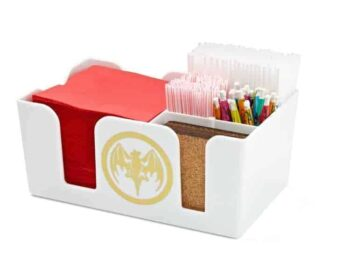 Plastic Napkin Caddy with Four Additional Pockets