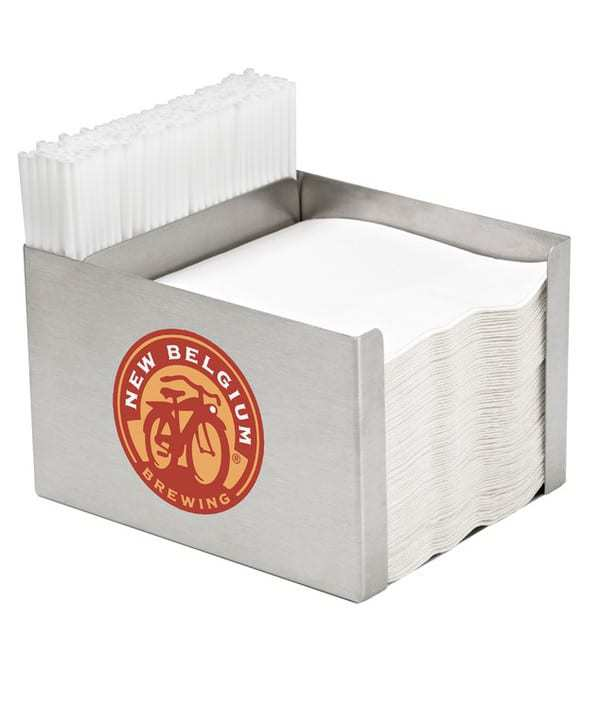 Stainless Steel Napkin Caddy with One Pocket