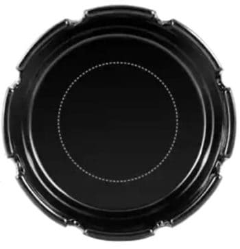 Custom Black Plastic Ashtray
