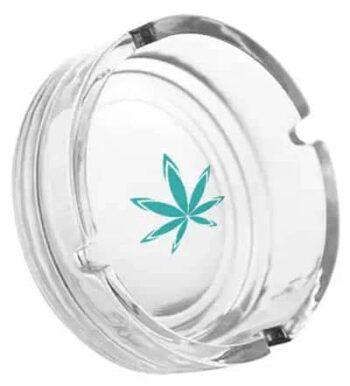 Custom Glass Ashtray with Design