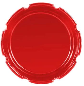 Custom Red Plastic Ashtray