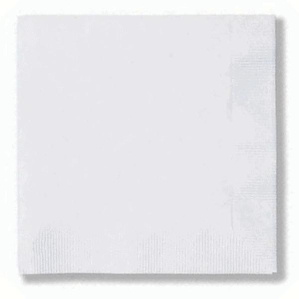 White Coin Edge Beverage Napkin-Back