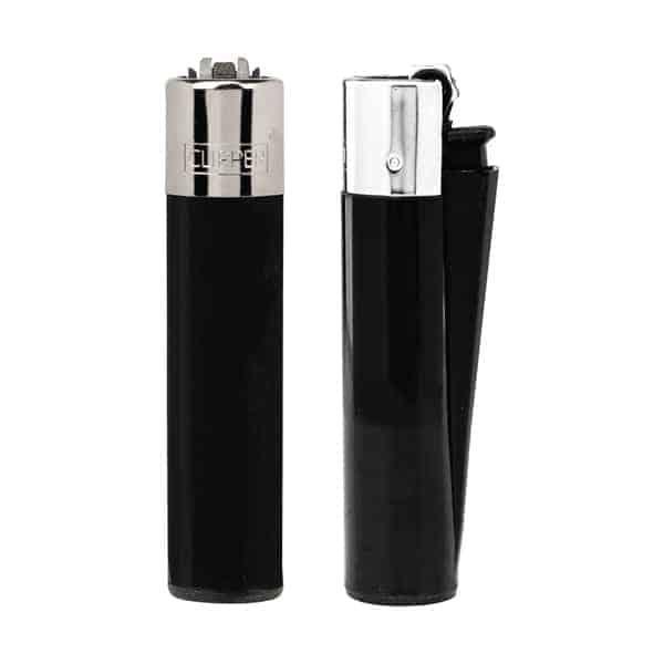 Clipper Refilable Flint Lighter - Black